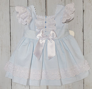 Baby Blue Striped Bow Back Sundress