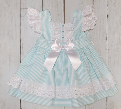 Mint Striped Bow Back Sundress