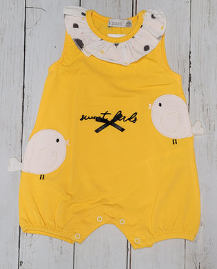 Baby Bird Yellow Romper