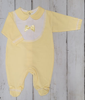 Lemon Bib Sleep Suit
