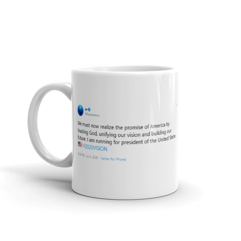 I am running for president @kanyewest - Funny Coffee Mugs | Novelty Mugs | Best Coffee Mugs