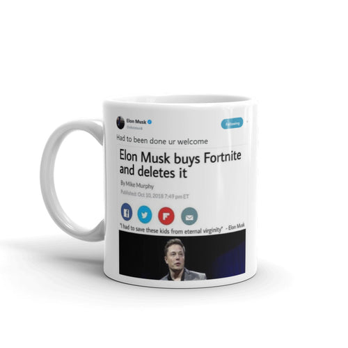 Had to been done ur welcome @elonmusk - Tweets On a Mug | The Best Coffee Mugs on Earth.