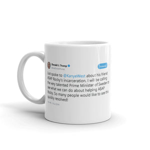 Just spoke to kanye west @realDonaldTrump - Funny Coffee Mugs | Novelty Mugs | Best Coffee Mugs