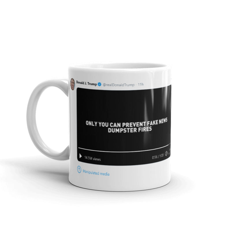 Manipulated Media @realDonaldTrump - Funny Coffee Mugs | Novelty Mugs | Best Coffee Mugs