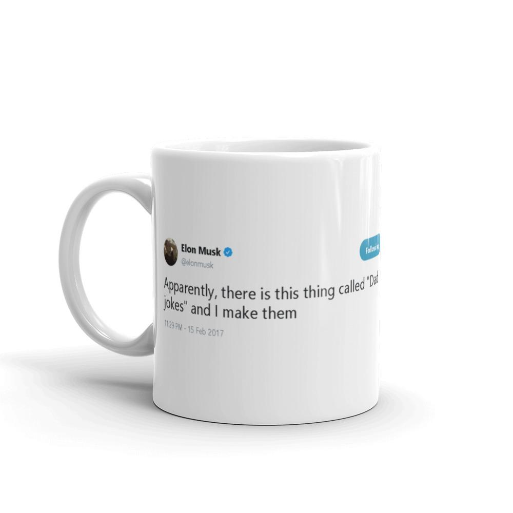 Dad Jokes @elonmusk - Funny Coffee Mugs | Novelty Mugs | Best Coffee Mugs