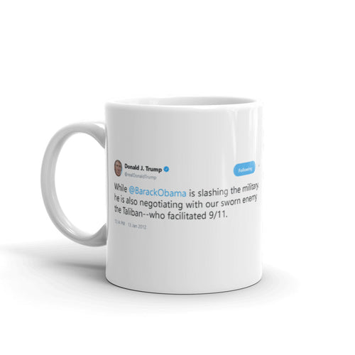 Negotiating with our sworn enemy @realDonaldTrump - Funny Coffee Mugs | Novelty Mugs | Best Coffee Mugs