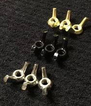 Load image into Gallery viewer, Bat Wing Vice Screw Clamps 9 Pack 8-32 Brass Black Stainless