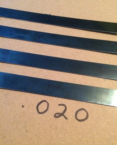 2' Blue Polished Spring Steel Stock .020