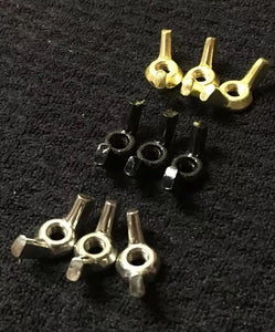 Bat Wing Vice Screw Clamps 9 Pack 8-32 Brass Black Stainless