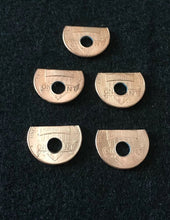 Load image into Gallery viewer, (5) Penny spring Shelf Washers #8 hole