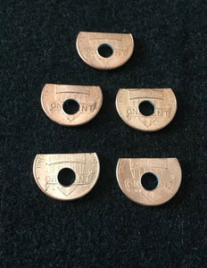 (5) Penny spring Shelf Washers #8 hole