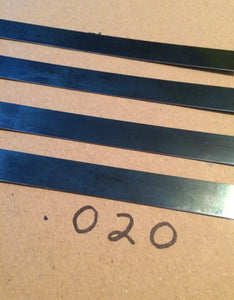 4' Spring Stock .018 & .020 thick Gauge Blue Tempered