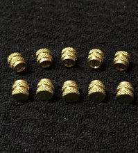 Load image into Gallery viewer, (10) pack Knurled Thumb Screw Cap Nut Brass 8-32
