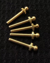 "Load image into Gallery viewer, Contact Screw pack of 5 Screws 8-32 Brass 1-1/4"", 1"""