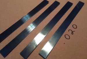 5' Blue Polished Spring Steel Stock .020