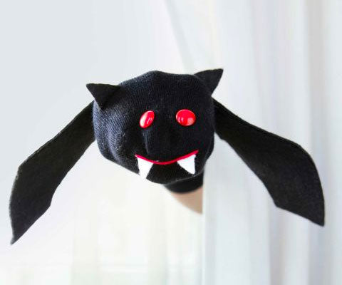 Bat Sock Puppet