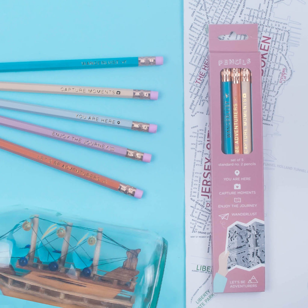 Wanderlust Pencils (Set of 5)