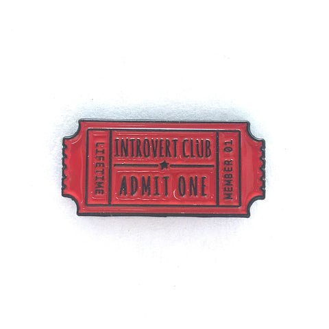 Introvert Club Enamel Pin