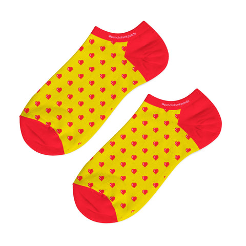 Retro Heart Low Cut Socks