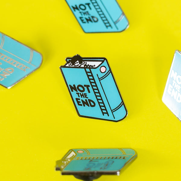 Not The End Enamel Pin