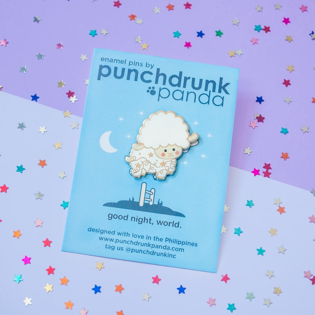 Goodnight, World! Enamel Pin