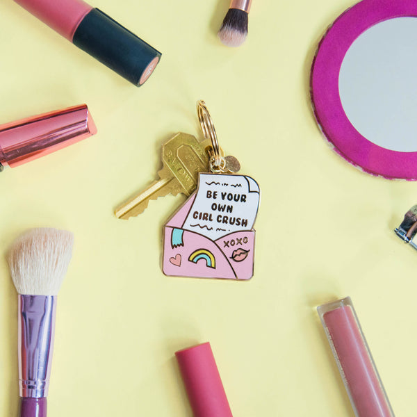 Be Your Own Girl Crush Keychain