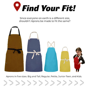 CHEFtog Aprons Find Your Fit