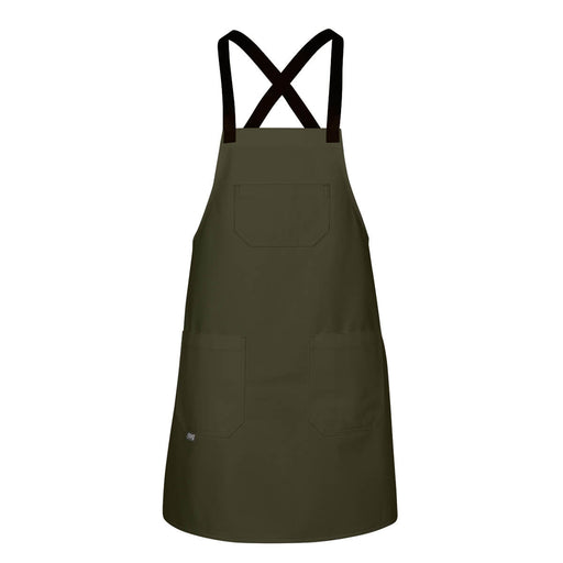 CHEFtog Big Hopsack Canvas Cross-Back Apron Jalapeno