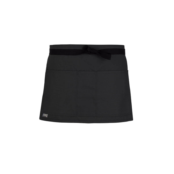 Lightweight Shorty Waist Apron-Black-CHEFtog