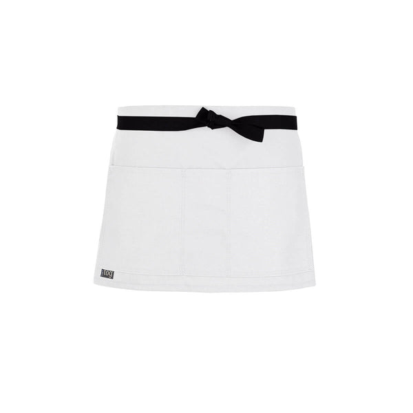 Lightweight Shorty Waist Apron-White-CHEFtog