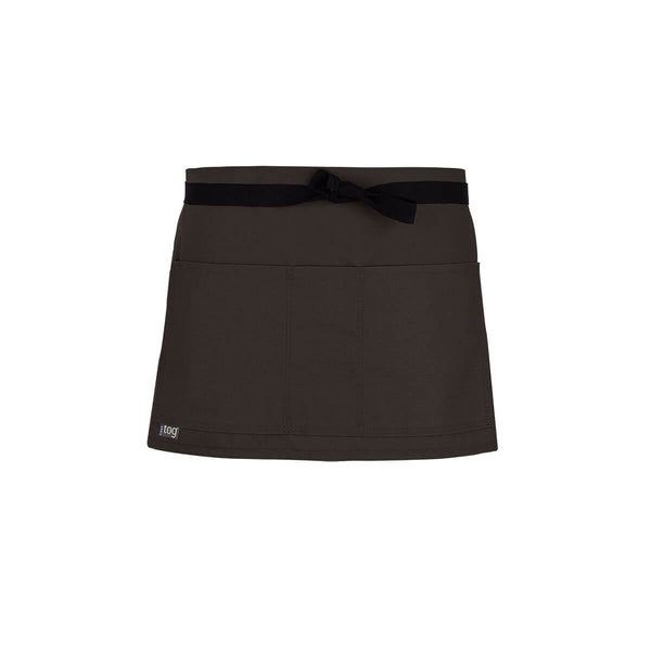 Lightweight Shorty Waist Apron-Chocolate-CHEFtog
