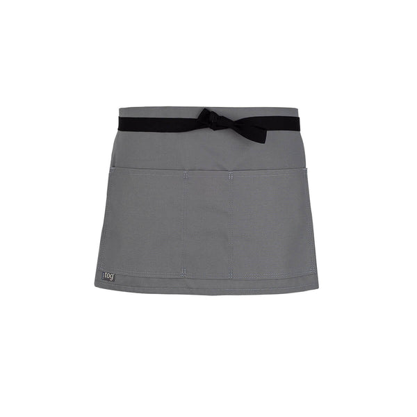 Lightweight Shorty Waist Apron-Gray-CHEFtog