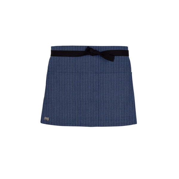 Lightweight Shorty Waist Apron-Blue Stripe-CHEFtog
