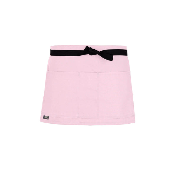 Lightweight Shorty Waist Apron-Pink-CHEFtog