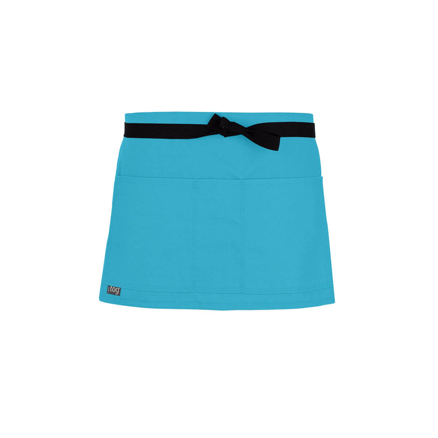 Lightweight Shorty Waist Apron-Turquoise-CHEFtog