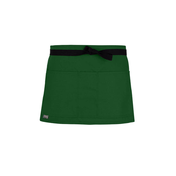 Lightweight Shorty Waist Apron-Green Pepper-CHEFtog