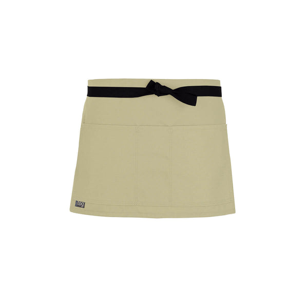 Lightweight Shorty Waist Apron-Rice-CHEFtog