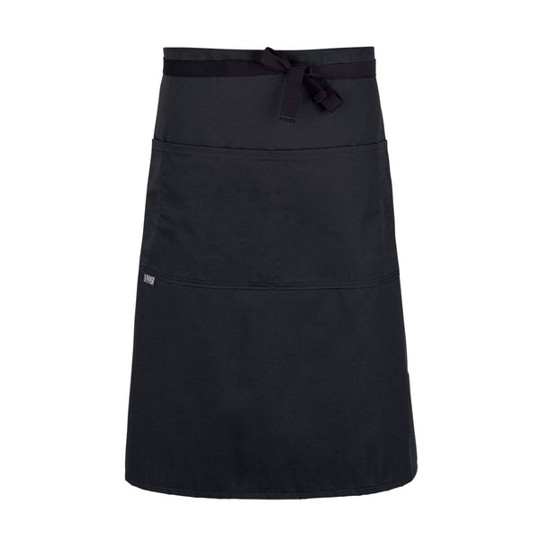CHEFtog Lightweight Three Quarter Bistro Server Apron Black
