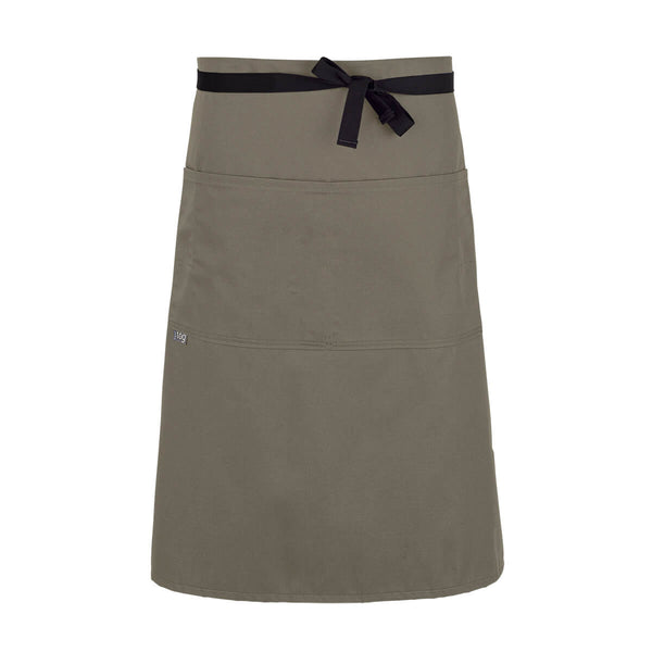 CHEFtog Lightweight Three Quarter Bistro Server Apron Khaki