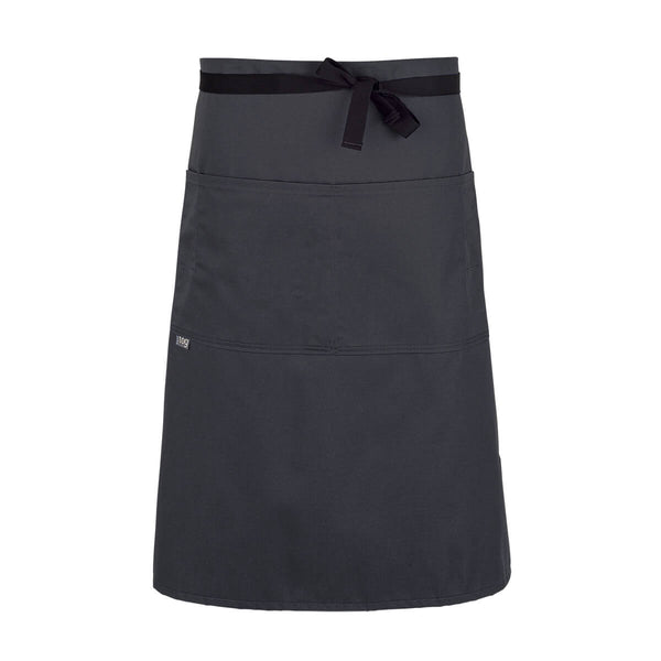 CHEFtog Lightweight Three Quarter Bistro Server Apron Charcoal