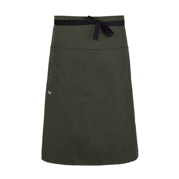 CHEFtog Lightweight Three Quarter Bistro Server Apron Olive