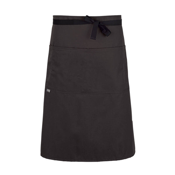 CHEFtog Lightweight Three Quarter Bistro Server Apron Chocolate