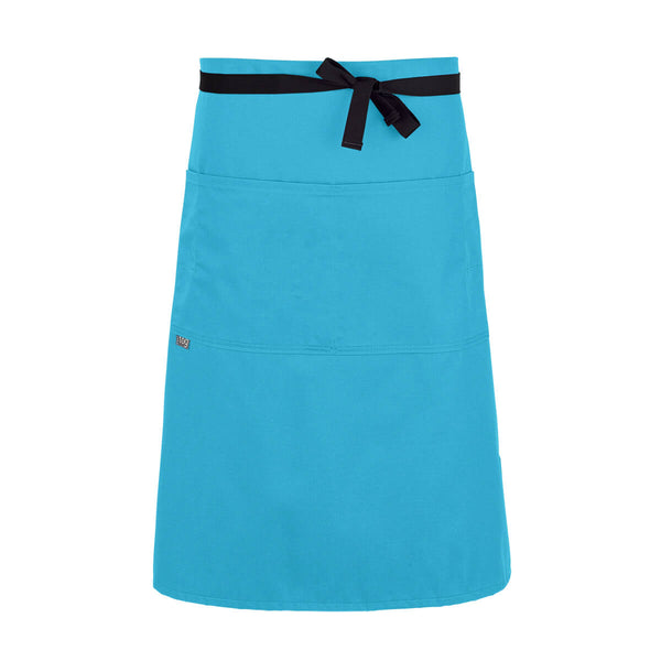 CHEFtog Lightweight Three Quarter Bistro Server Apron Turquoise