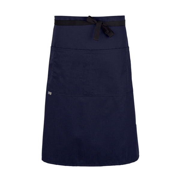 CHEFtog Lightweight Three Quarter Bistro Server Apron French Blue