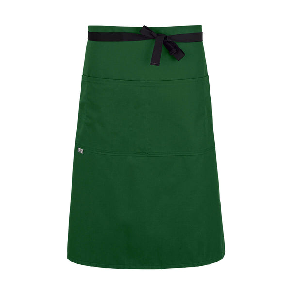 CHEFtog Lightweight Three Quarter Bistro Server Apron Green Pepper