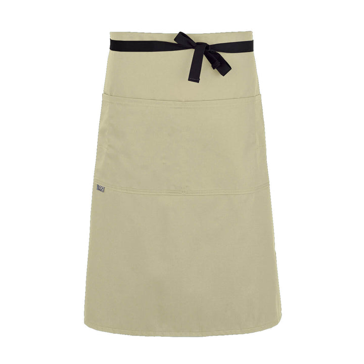 Lightweight Three Quarter Bistro Server Apron-Rice-CHEFtog