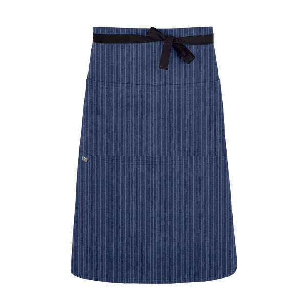 CHEFtog Lightweight Three Quarter Bistro Server Apron Blue Stripe
