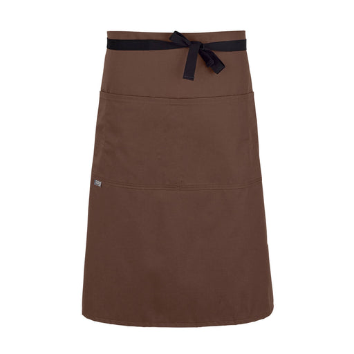CHEFtog Performance Three Quarter Bistro Server Apron Cocoa