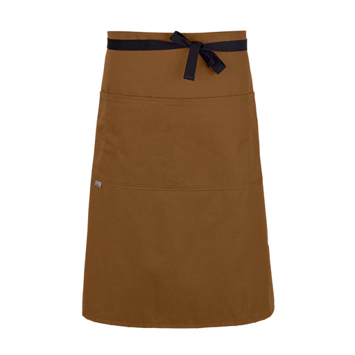 CHEFtog Performance Three Quarter Bistro Server Apron Rust2