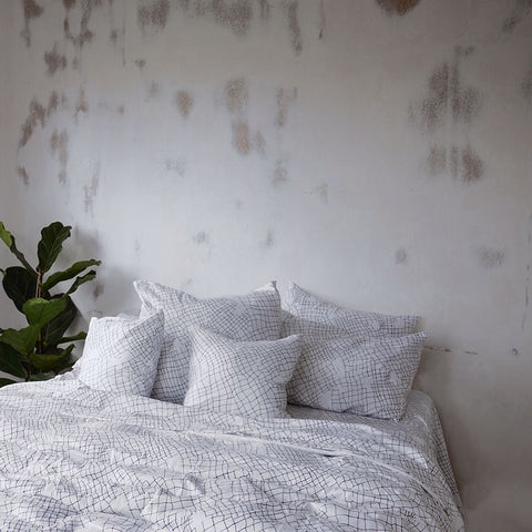 White Net Organic Cotton Duvet Cover